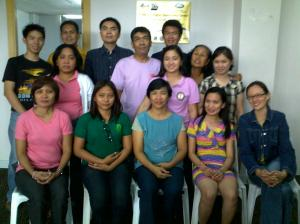 1st batch of web accessibility workshop participants with ATRIEV's core members and Julius