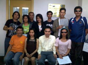2nd batch of web accessibility workshop participants with ATRIEV's core members and Julius