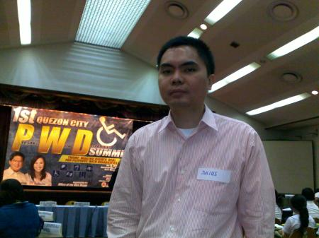 Julius in the Quezon City PWD Summit