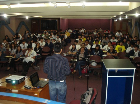 the participants and Julius during the seminar