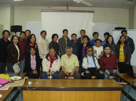 group picture of participants, organizers, and resource persons during the web accessibility forum